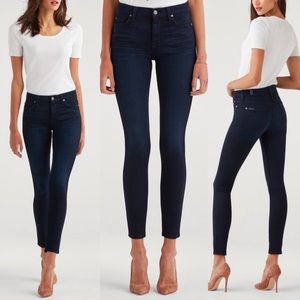 7FAMK B(air) High Waist Skinny Blue Black Jeans